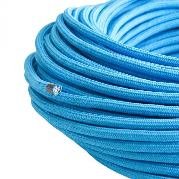 Textilkabel-Retro-Stoffkabel-Pendelleitung-3x0,75-blau