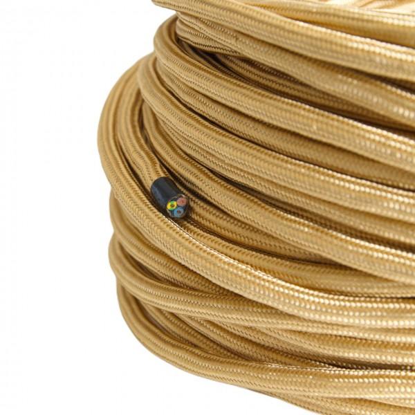 Textilkabel-Retro-Stoffkabel-Pendelleitung-3x0,75-gold