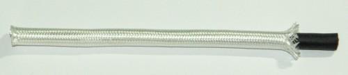 Textilumflochtene Gummischlauchltg. 2x0,75 weiß