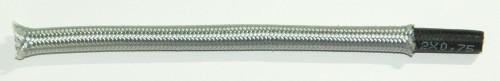 Textilumflochtene Gummischlauchltg. 2x0,75 silber