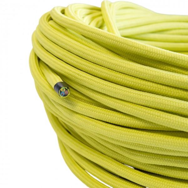 Textilkabel-Retro-Stoffkabel-Pendelleitung-3x0,75-lemongelb