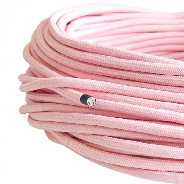 Textilkabel-Retro-Stoffkabel-Pendelleitung-3x0,75-rosa