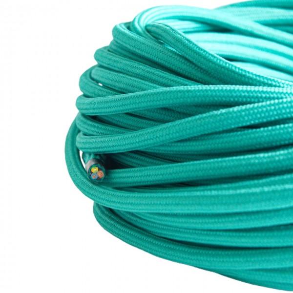 Textilkabel-Retro-Stoffkabel-Pendelleitung-3x0,75-tuerkis