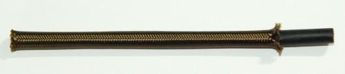 Textilumflochtene Gummischlauchltg. 2x0,75 braun
