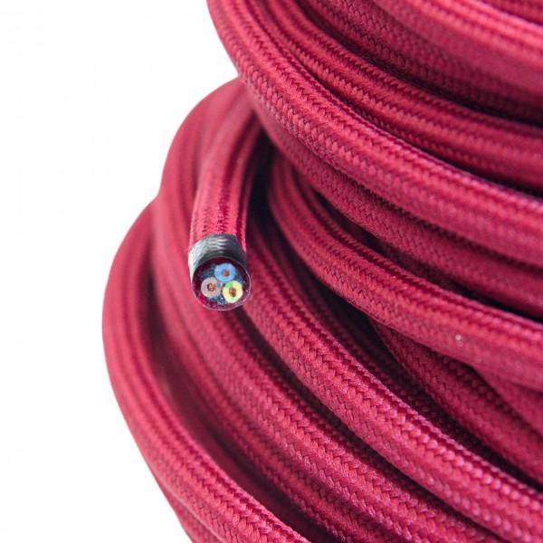 Textilkabel-Retro-Stoffkabel-Pendelleitung-3x0,75-bordeaux