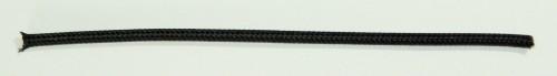 Einadrig textilumfl. Leitung 1x0,75qmm schwarz