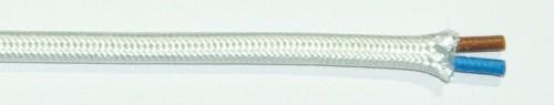 Textilkabel Typ NFA 2x0,75 weiß